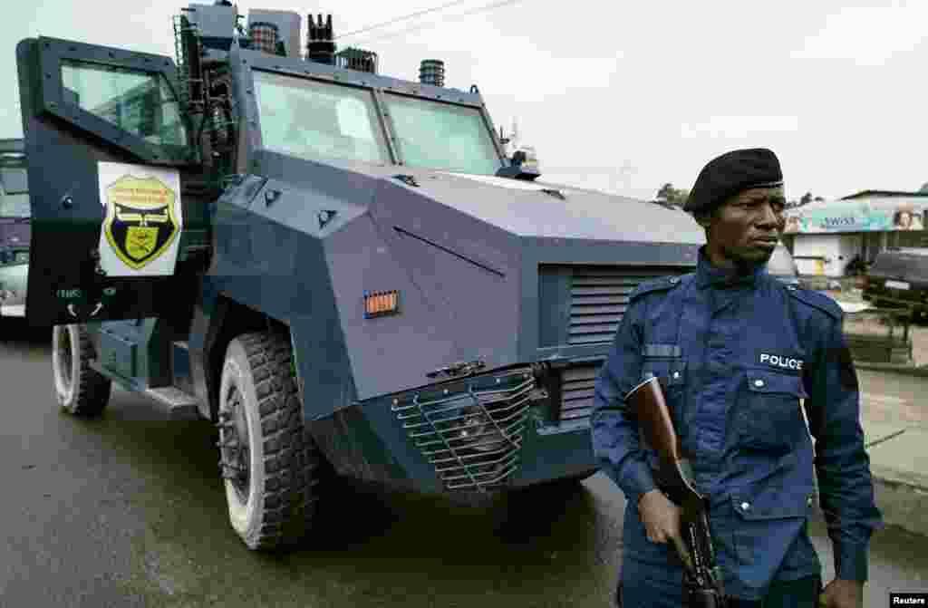 La police d'intervention rapide (PIR) à Kinshasa, le 19 septembre 2016.