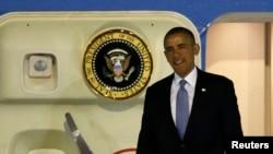奥巴马抵达日本开始亚洲之行