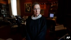 Associate Justice Ruth Bader Ginsburg at the Supreme Court in Washington, July 24, 2013