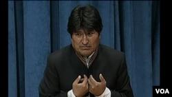 Evo Morales acusó a la derecha por la quema de la bandera de Venezuela y de una estatua del Che Guevara.