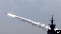 미국의 해상 미사일 발사 훈련