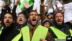 Warga melakukan unjuk rasa di Amman, Yordania (foto: ilustrasi).