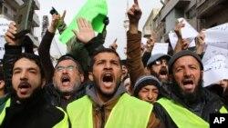 گوشۀ از مظاهرات علیه مجلۀ شارلی ایبدو در اردن
