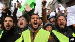 約旦示威者抗議法國諷刺雜誌《查理周刊》對伊斯蘭教先知穆罕默德的漫畫,