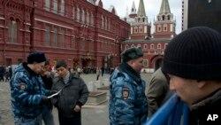 عکس آرشیوی از ماموران پلیس در مسکو