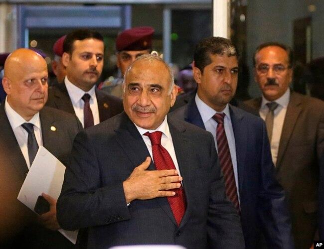 Премьер-министр Ирака Адель Абдул-Махди, Багдад, 24 октября 2018 года
