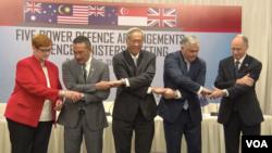 亚太四国与英国防长2017年6月2日聚首香会 (美国之音艾德摄)