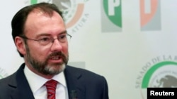 FILE - Mexico's Foreign Minister Luis Videgaray.