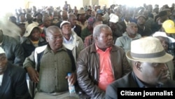 Some of the war veterans who have decided to cut ties with President Robert Mugabe.