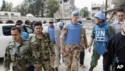 유엔이 파견한 시리아 휴전 감시단.