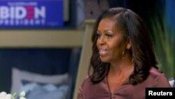 前第一夫人米歇爾·奧巴馬2020年8月17日通過視頻在民主黨全代會首日會議上發言(路透社)