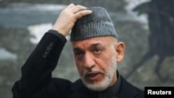 Tổng thống Afghanistan Hamid Karzai phát biểu trong cuộc họp báo tại Kabul, ngày 14/1/2013.