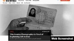 گزارش مولی میرهاشم از نفیسه مطلق، بانوی عکاس ایرانی مقیم مالزی در نشریه «نیو ریپابلیک»