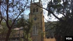 香港聖公會聖約翰座堂(美國之音記者申華拍攝)