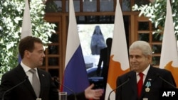 Президенты Дмитрий Медведев и Димитрис Христофиас