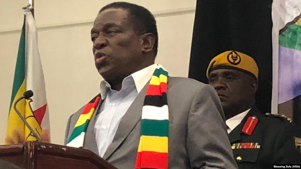 Zimbabwe President Emmerson Mnangagwa In New York Usa