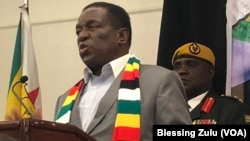 Zimbabwe President Emmerson Mnangagwa in New York, USA.