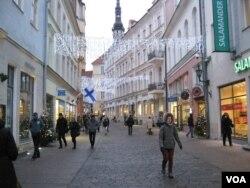 Jalan Tallinn, ibu kota Estonia, Januari, 2018. (Foto: dok).