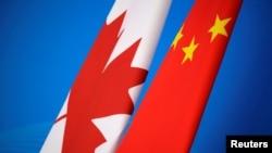 加拿大與中國國旗(路透社資料照)