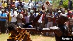 在南非,拳斗是一种传统