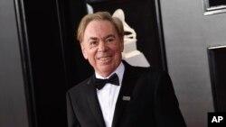 Archivo- El compositor británico Andrew Lloyd Webber a su llegada a la entrega 60 de los premios Grammy en Nueva York. 28-1-18.