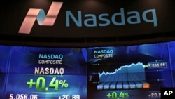 纳斯达克市场网站显示交易数据(2015年4月23日)