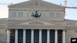 快將完成復修的莫斯科大劇院。