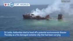 VOA60 Addunyaa - Cargo Ship Sinks off Sri Lanka, Triggers Environmental Disaster