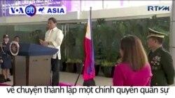 Ông Duterte bông đùa về việc thành lập chính quyền quân sự
