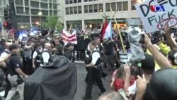 Washington'da Karşılıklı Gösteriler