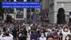 Continúan protestas en Hong Kong