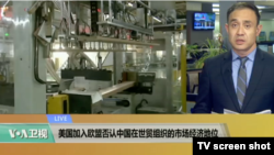 VOA连线:美国加入欧盟否认中国在世贸组织的市场经济地位