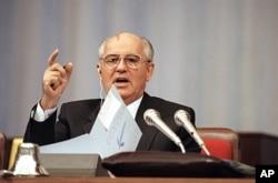 1991年9月4号,苏联领导人戈尔巴乔夫在一次改革会议上讲话(资料照)