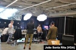 Bastidores da cadeia de televisão BTN na Convenção Republicana. 16 Jul 216