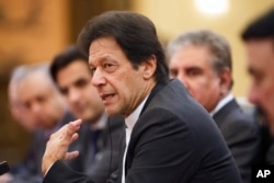 FILE - Pakistan's Prime Minister Imran Khan is seen during talks in beijing, China, Nov. 2, 2018.