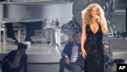 Recording Artist Mariah Carey performs at The Colosseum at Caesars Palace, May 6, 2015 in Las Vegas.