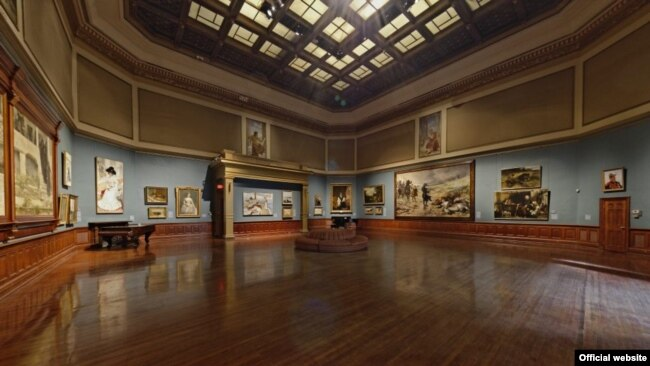 Galerija Rotonda i galerija skulptura su rezultat renovacija 1883-86 kada je kuća Telfer postala muzej umetnosti.