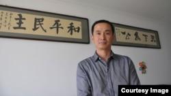 遭到中国当局打压的维权律师之一,北京律师谢燕益(新公民运动网站图片)。他参与代理数十起维权案件。2015年7月被当局带走。