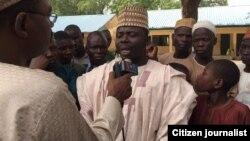 Onarebul Sa'adu Gambomi yana magana da wakilin Muryar Amurka a Maiduguri