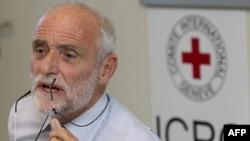 Predsednik Medjunarodnog komiteta crvenog krsta Jakob Kelenberger govori na konferenciji za novinare o svojoj poseti Siriji, Ženeva, 6. septembar 2011.