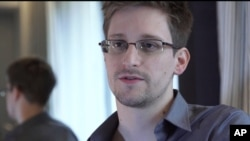 File - Edward Snowden, who worked as a contract employee at the National Security Agency.