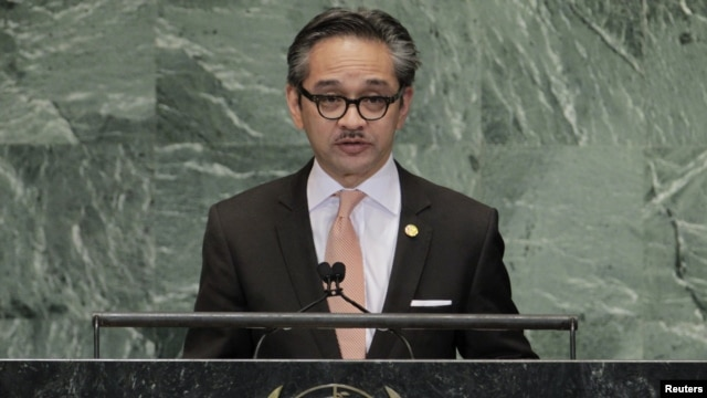 Indonesian Foreign Minister Marty Natalegawa, September 28, 2012.