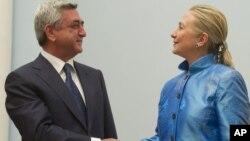 Хиллари Клинтон и Серж Саргсян