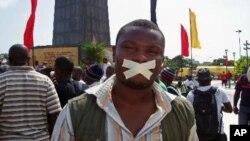 EA maioria das manifestações realizadas em Angola são convocadas por jovens (foto de arquivo)