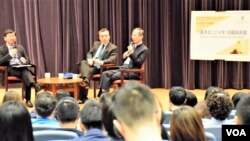 香港大學舉辦基本法20周年回顧與前瞻講座。(美國之音湯惠芸)
