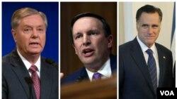 از راست سناتورها رامنی، مورفی و گراهام
