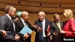 Міністри закордонних справ Британії, Данії, Австрії та Франції