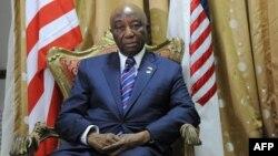 Le vice-président libérien Joseph Nyumah Boakai à Monrovia, le 20 mars 2017.
