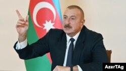 ប្រធានាធិបតីប្រទេសអាស៊ែបៃហ្សង់លោក Ilham Aliyev បាននិយាយនៅថ្ងៃអាទិត្យថា កងទ័ពរបស់ប្រទេសលោកនឹងធ្វើការប្រយុទ្ធរហូតដល់ដំណាក់កាលចុងក្រោយ ប្រសិនបើការចរចាមិនបានឈានដល់ការព្រមព្រៀងជាមួយអាមេនី ទីក្រុងបាគូ ប្រទេសអាស៊ែបៃហ្សង់ ថ្ងៃទី៩ ខែតុលា ឆ្នាំ២០២០។