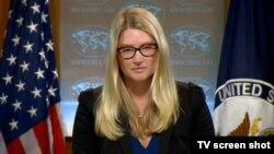 Juru bicara Deplu AS, Marie Harf mengumumkan sanksi terhadap para pejabat Venezuela (foto: dok).